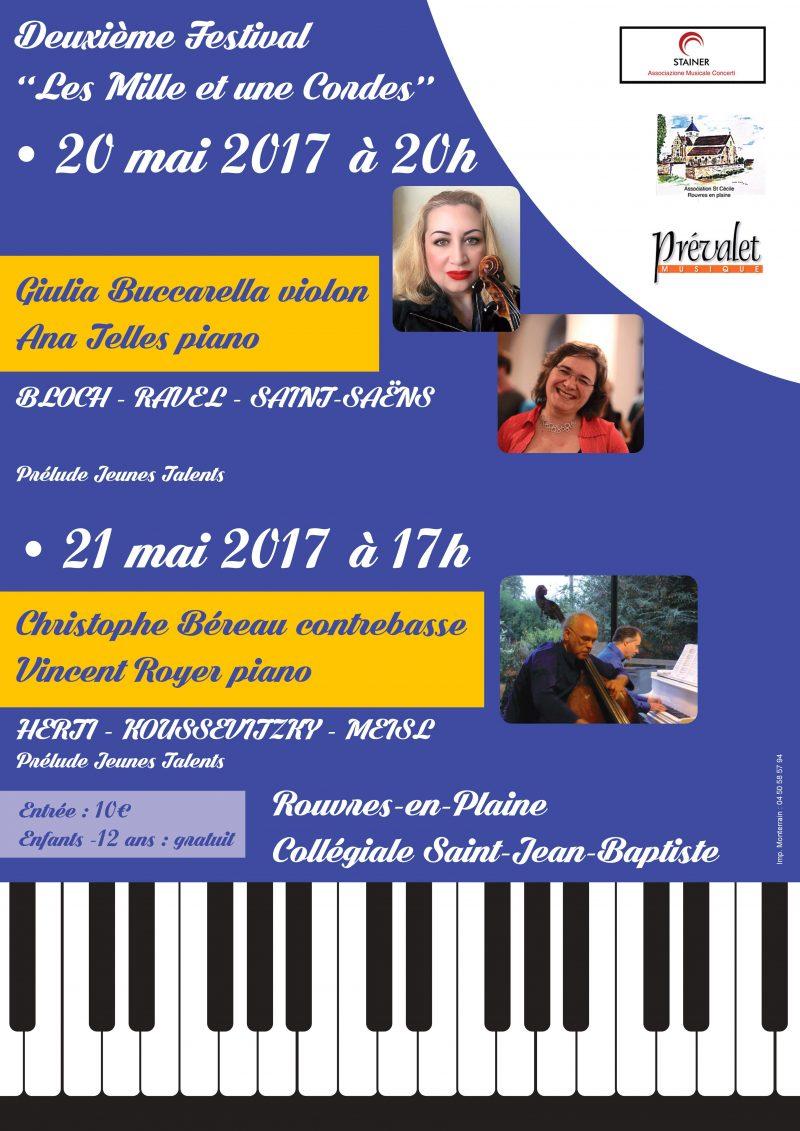 Festival Les mille et une cordes Prévalet Musique